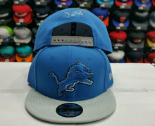 Load image into Gallery viewer, Exclusive New Era NFL Detroit Lions 9Fifty Snapback Blue & Gray