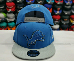 Exclusive New Era NFL Detroit Lions 9Fifty Snapback Blue & Gray