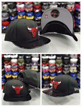 Load image into Gallery viewer, Exclusive New Era 9Fifty NBA Chicago Bulls Black Patent Leather snapback Hat cap