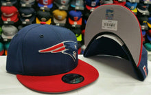 Load image into Gallery viewer, Exclusive NFL New Era New England Patriots Navy / Red Snapback 9Fifty Snapback Hat