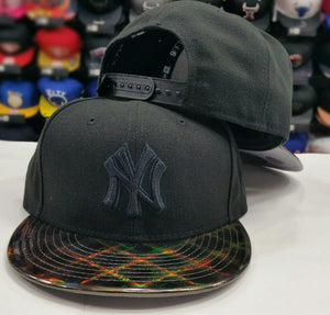 Exclusive New York Yankee MLB Black New Era 9Fifty Snapback Hat