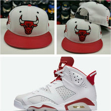 Load image into Gallery viewer, Matching New Era Chicago Bulls strapback Hat for Jordan 6 Alternate