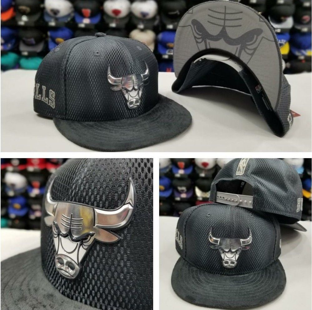 New Era NBA Gray Chicago Bulls On Court Draft Collection 9Fifty Snapback Hat