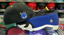 Load image into Gallery viewer, Matching New Era Golden State Warriors 59Fifty fitted hat for Jordan 14 Laney