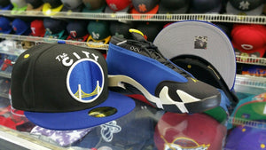 Matching New Era Golden State Warriors 59Fifty fitted hat for Jordan 14 Laney