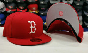 New Era 59Fifty NEW Boston Red Sox RED Men's Fitted MLB Hat
