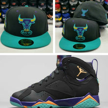 Load image into Gallery viewer, Matching New Era Chicago Bulls 59Fifty fitted hat for Jordan 7 Lola Bunny