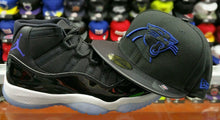 Load image into Gallery viewer, Matching New Era Carolina Panthers 5950 Fitted Hat For Air Jordan 11 Space Jam
