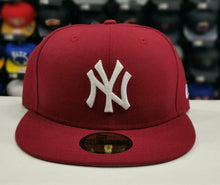 Load image into Gallery viewer, New Era New York Yankee 59Fifty Burgundy Fitted Hat