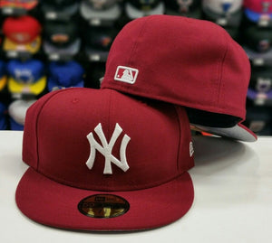 New Era New York Yankee 59Fifty Burgundy Fitted Hat
