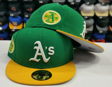 Load image into Gallery viewer, New Era 59Fifty Cooperstown Green Oakland Athletic 1973 World Series A's Fitted hat