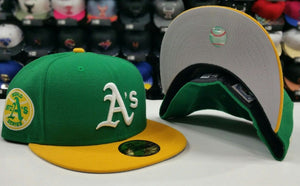New Era 59Fifty Cooperstown Green Oakland Athletic 1973 World Series A's Fitted hat