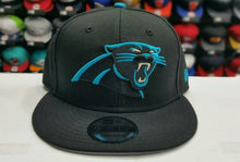 Load image into Gallery viewer, NFL New Era Carolina Panthers Snapback 9Fifty hat Cap Black & Blue