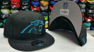 NFL New Era Carolina Panthers Snapback 9Fifty hat Cap Black & Blue