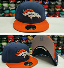 Load image into Gallery viewer, Exclusive New Era NFL Denver Broncos 9Fifty Snapback Navy & orange