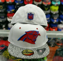 Load image into Gallery viewer, Matching New Era NFL Carolina Panther 5950 fitted hat for Jordan 3 True Blue