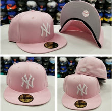 Load image into Gallery viewer, New Era 59Fifty NEW YORK YANKEE Light PINK Fitted MLB Hat