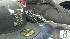 Matching NBA New Era Chicago Bulls fitted hat for Air Jordan 8 Chrome