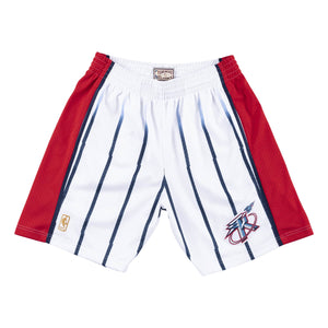 Houston Rockets 1996- 97 Mitchell & Ness Swingman White Shorts