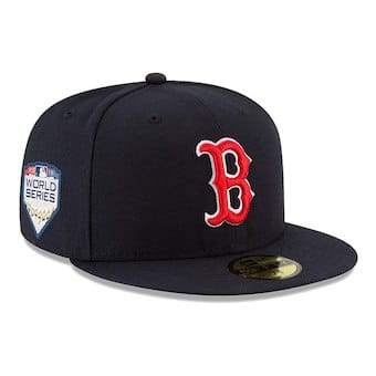 Boston Red Sox New Era Navy Home 2018 World Series Side Patch 59FIFTY Fitted Hat