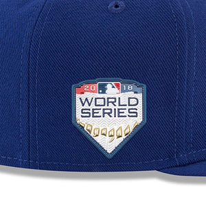 Los Angeles Dodgers New Era Royal 2018 World Series Side Patch 59FIFTY Fitted Hat