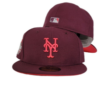 Load image into Gallery viewer, MAROON NEW YORK METS INFRARED BOTTOM 2013 ALL STAR GAME NEW ERA 59FIFTY FITTED