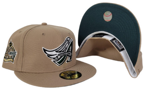 Tan Los Angeles Angels Dark green Bottom 40th Season Side Patch New Era 59Fifty Fitted
