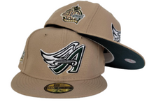 Load image into Gallery viewer, Tan Los Angeles Angels Dark green Bottom 40th Season Side Patch New Era 59Fifty Fitted