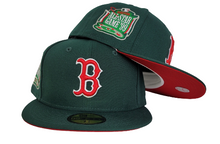 Load image into Gallery viewer, Dark Green New Era Boston Red Sox Red Bottom 1999 All Star Game side Patch 59Fifty Fitted