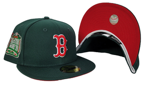 Dark Green New Era Boston Red Sox Red Bottom 1999 All Star Game side Patch 59Fifty Fitted