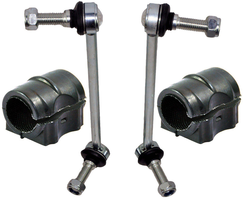 Front Anti Roll Bar Bushes + Drop-Links Kit (Left + Right Pair) For Land Rover-D2P Autoparts