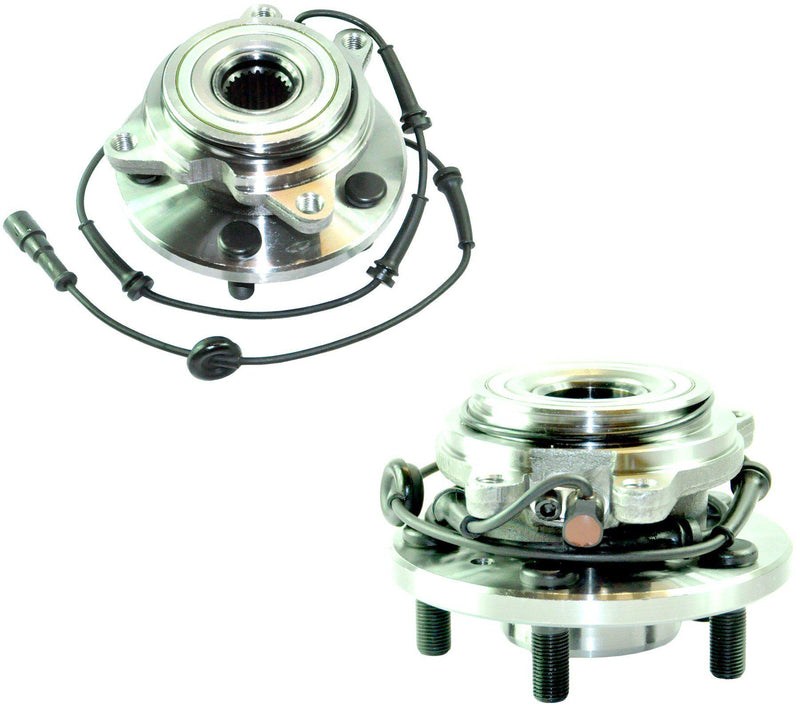 Front (Left + Right Pair) Wheel Bearings Hub + Abs Sensor For Land Rover-D2P Autoparts