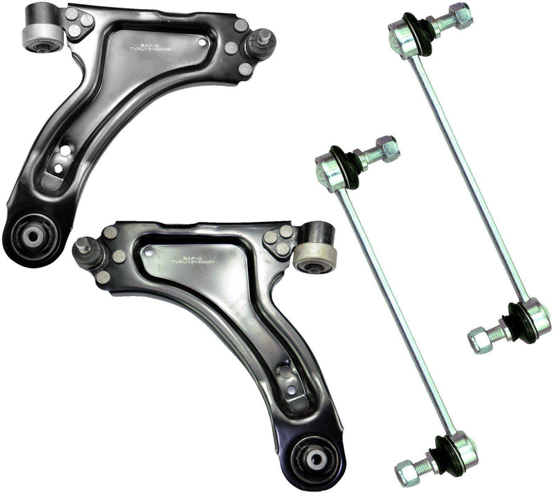 Front Lower Wishbone Arms + Droplinks Kit (Left & Right Pair) For Vauxhall-D2P Autoparts