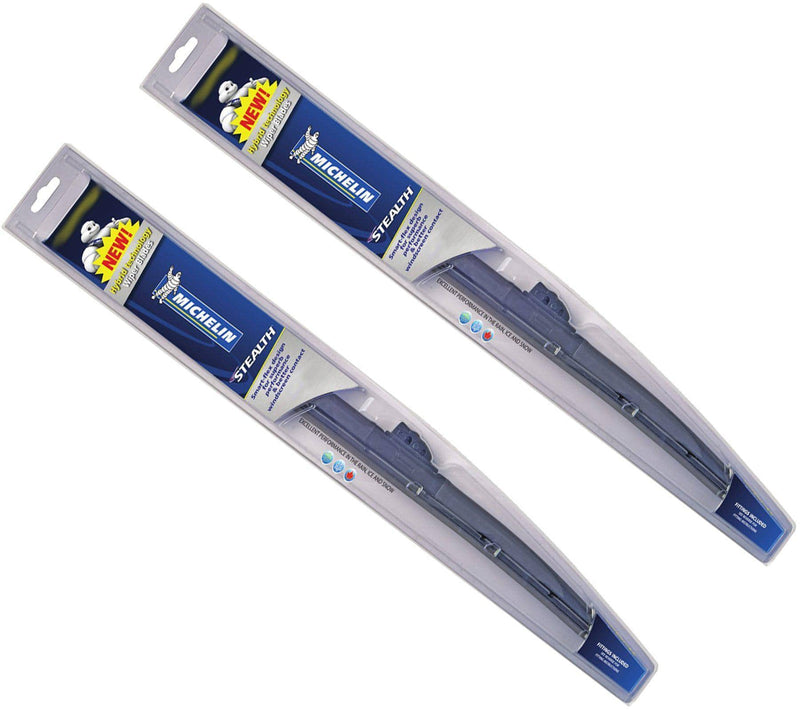 Genuine Michelin Stealth Hybrid Front Wiper Blades Pair Of 16″/ 400 Mm + 28″/ 710 Mm-D2P Autoparts