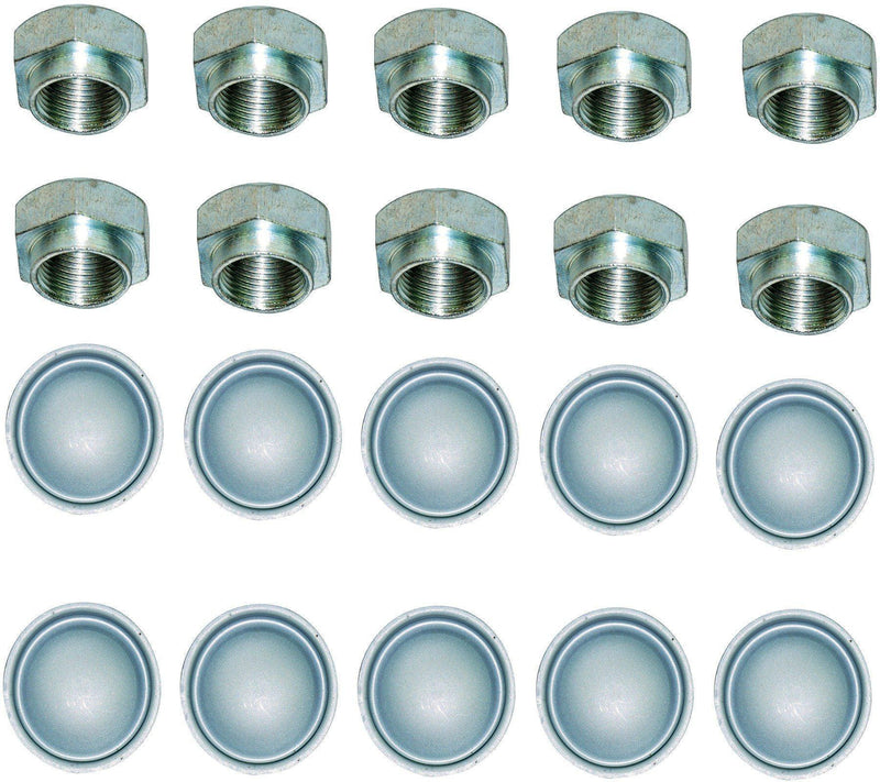 Hub Nuts & Dust Caps X10 For Peugeot/Citroen-D2P Autoparts