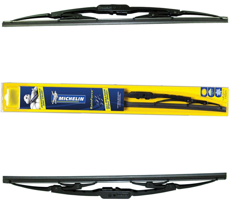 "Michelin Rainforce Traditional Front Wiper Blades Pair Of 380Mm/15″ + 600Mm/24""-D2P Autoparts"
