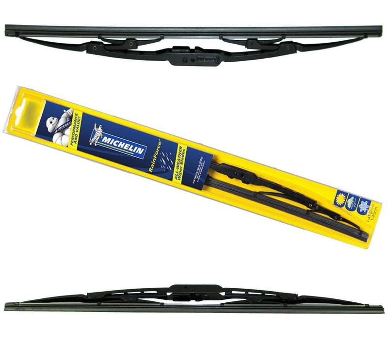 "Michelin Rainforce Traditional Front Wiper Blades Pair Of 560Mm/22″ + 600Mm/24""-D2P Autoparts"
