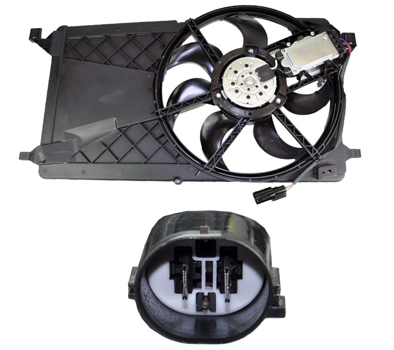 Radiator Cooling Fan + Motor For/Mazda/Volvo-D2P Autoparts