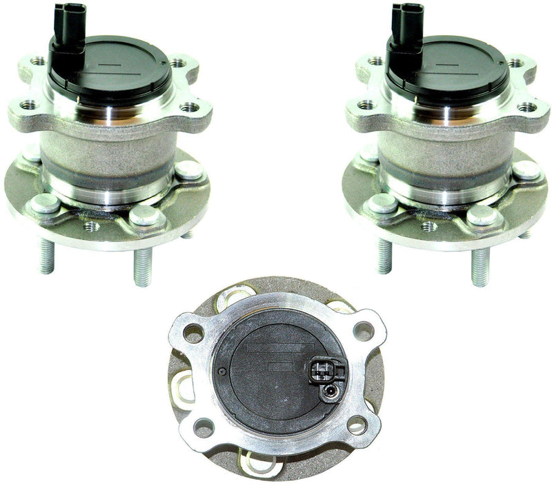 Rear Left and Right Wheel Bearing Pair For Ford Focus-D2P Autoparts