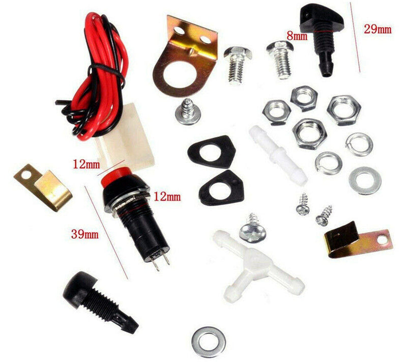 Universal Windscreen Washer Bag Kit (Pumps, Jets, Switches)-D2P Autoparts
