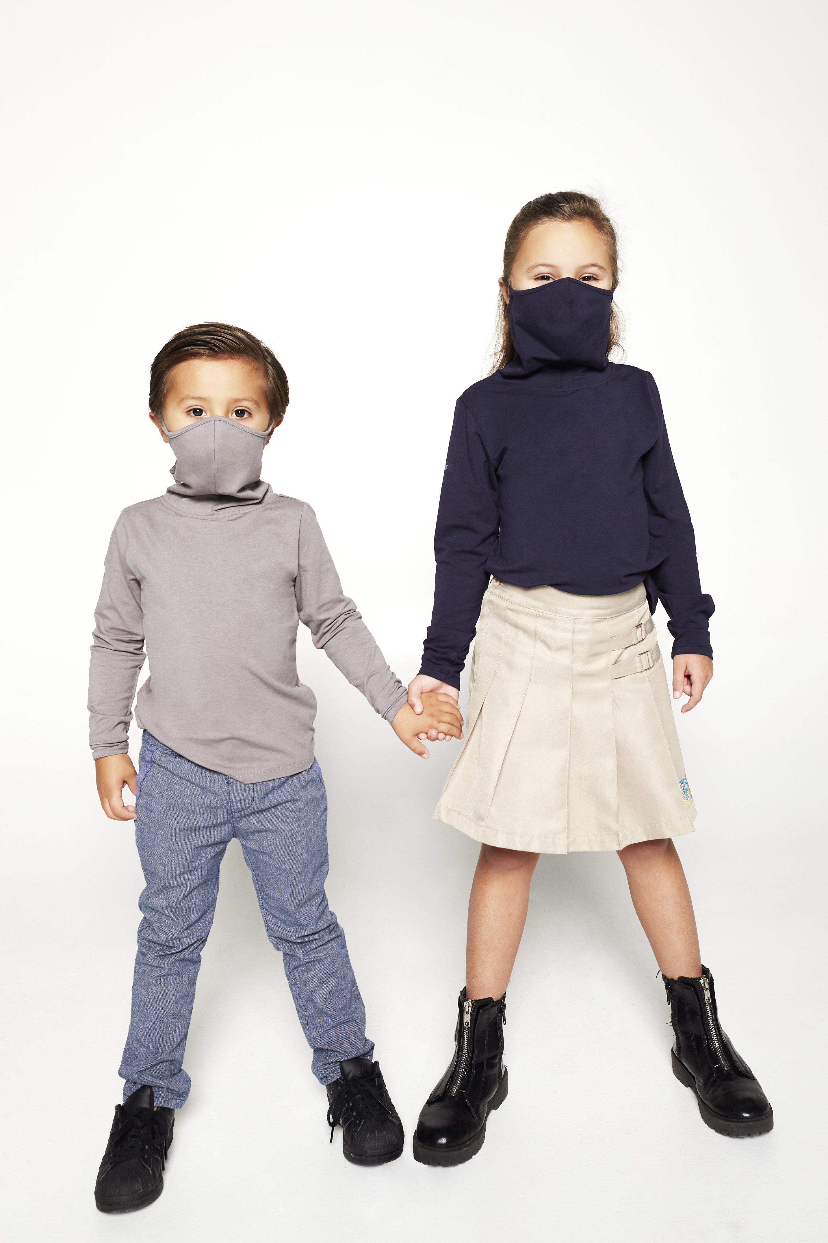 Kids Long Sleeve Navy Shmask™