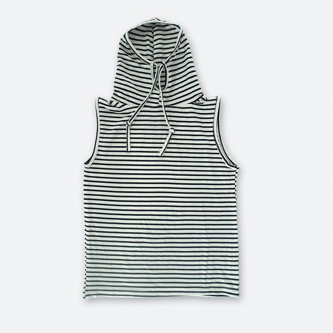 Kids Sleeveless Navy Stripe Shmask™