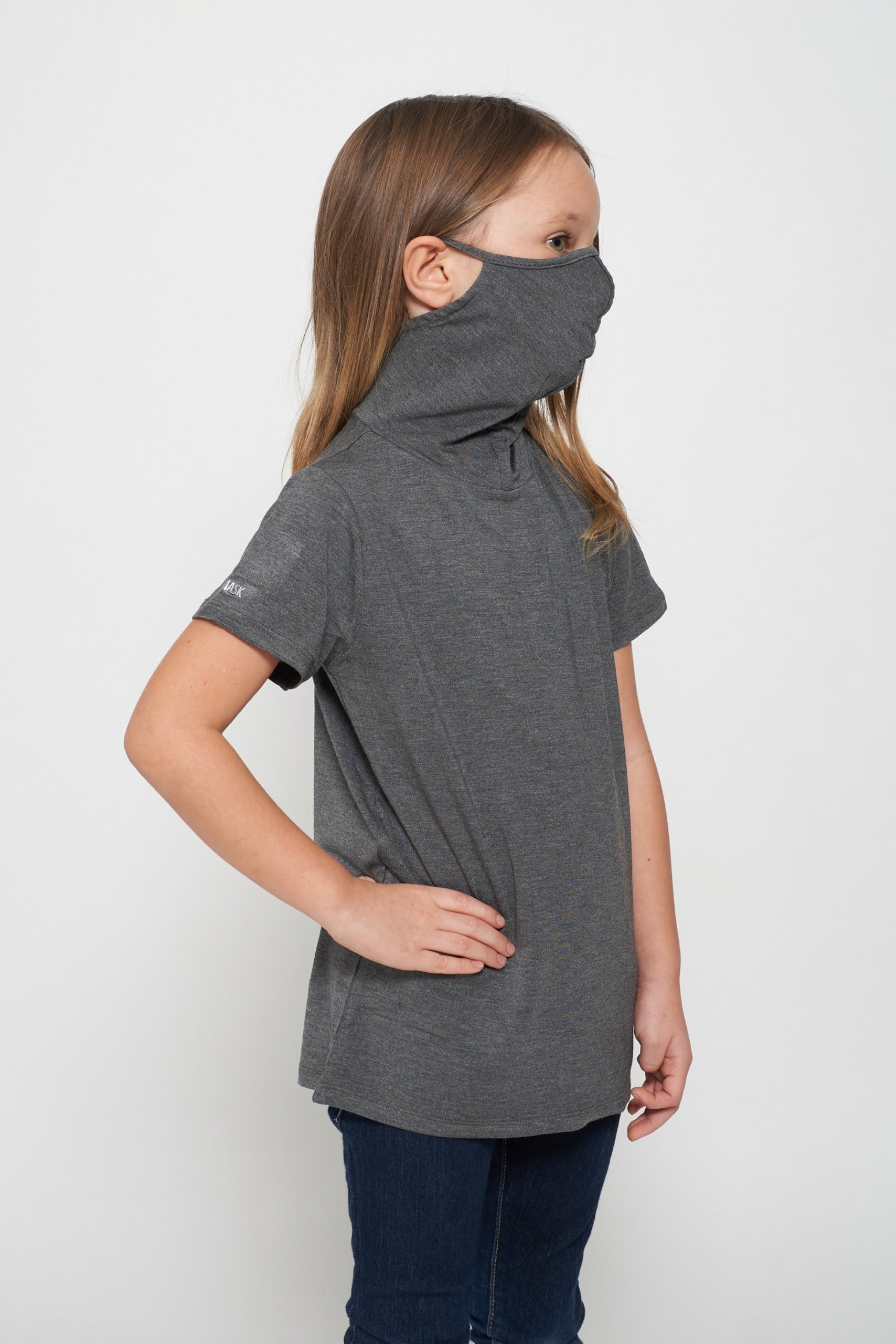 Kids Short Sleeve Dark Heather Gray Modal Shmask™