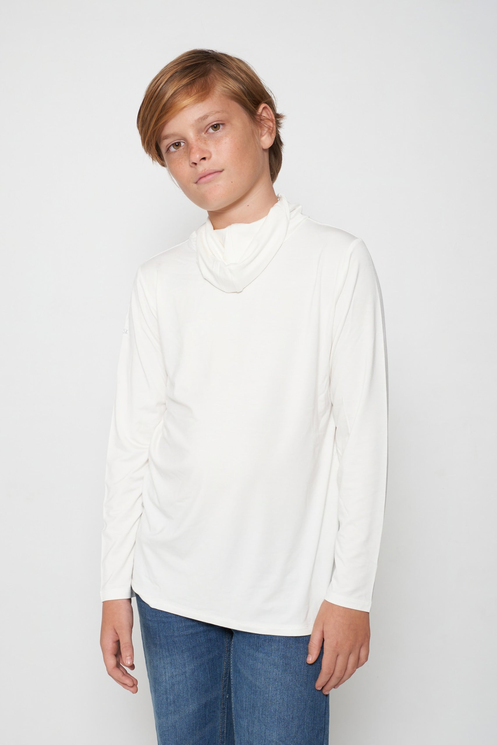 Kids Long Sleeve White Shmask™