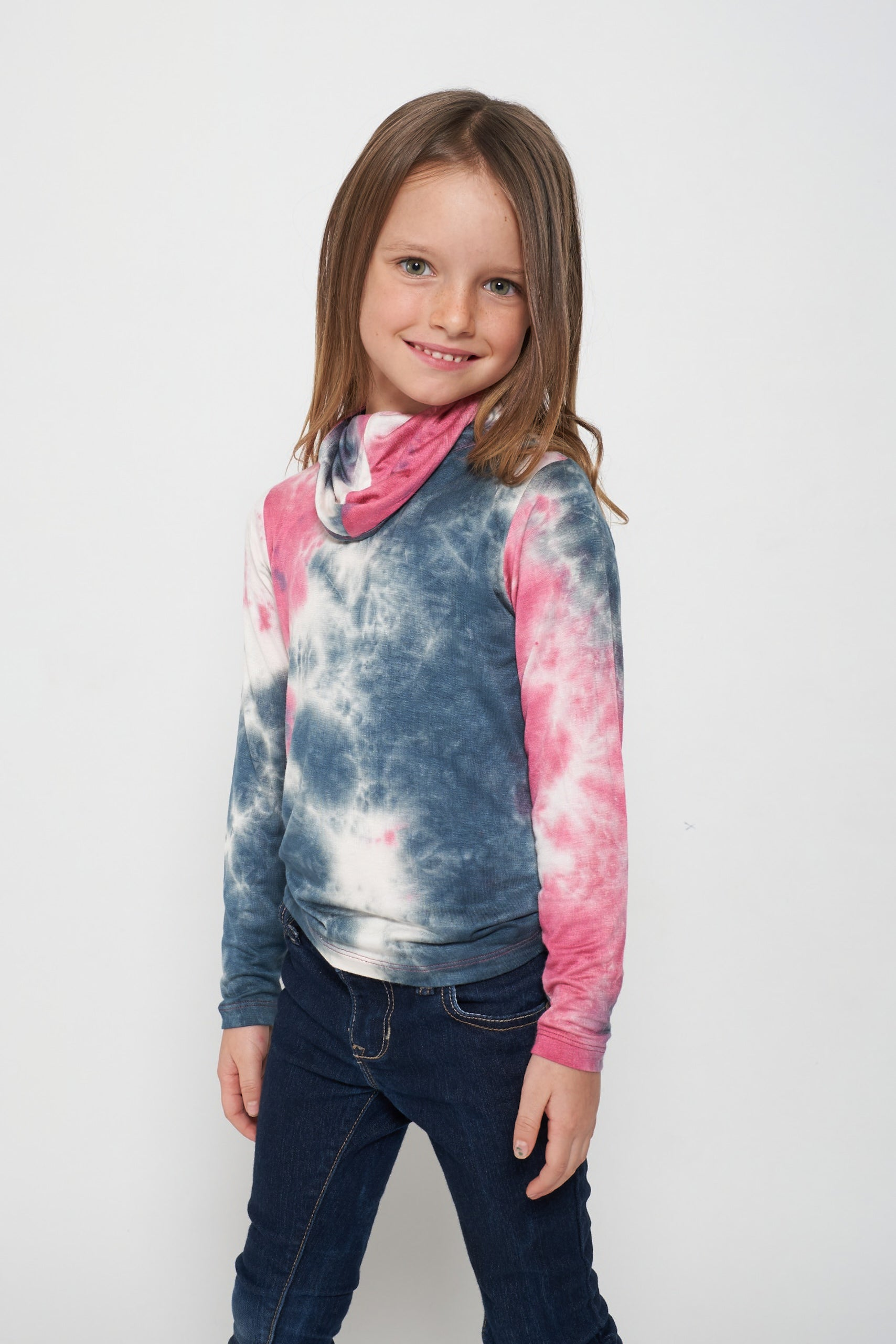 Kids Short Sleeve Pink White Blue Tie-dye #9 Shmask™