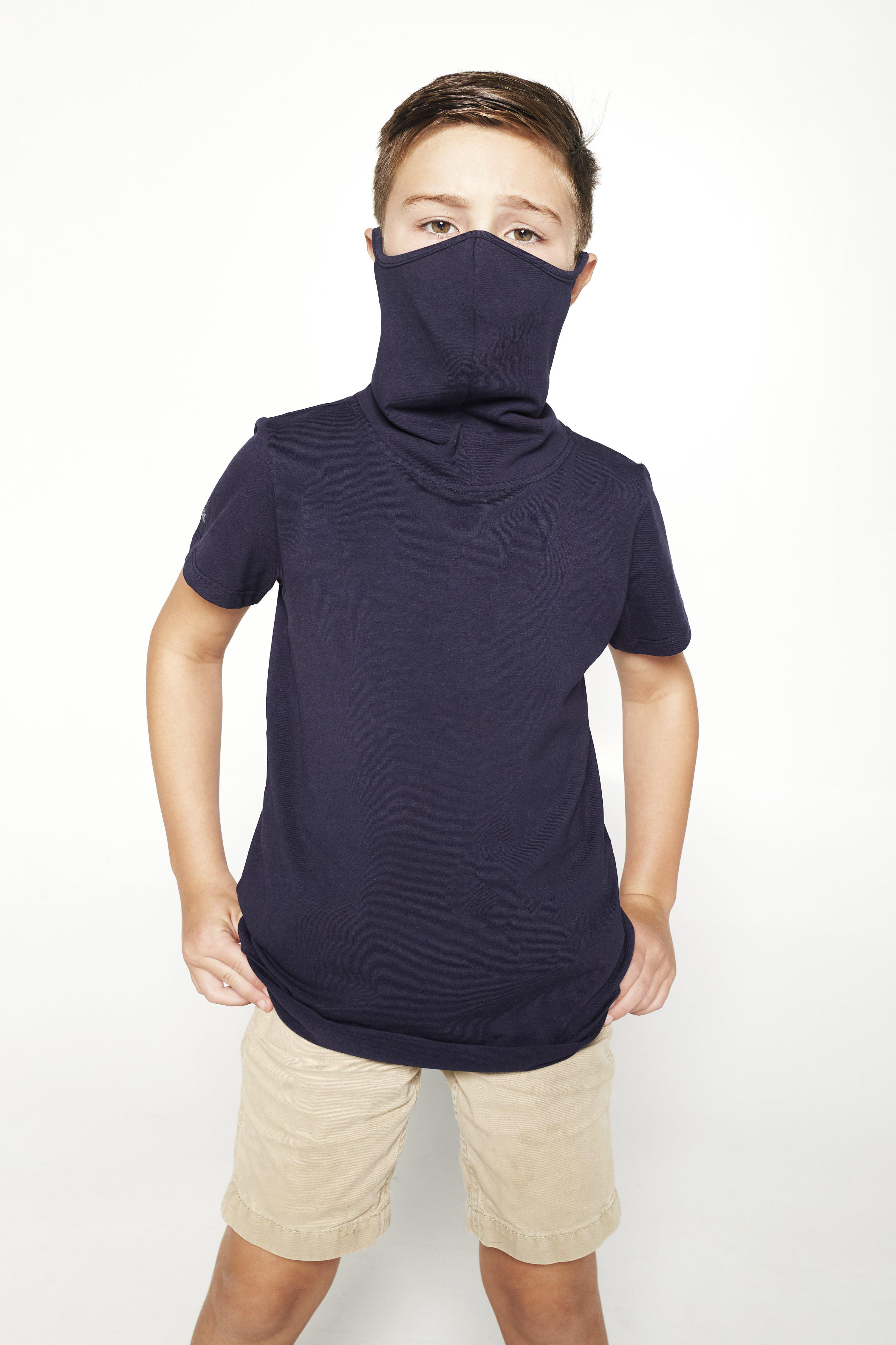 Kids Short Sleeve Navy Shmask™ Earloop Face Mask for Kids and Adults