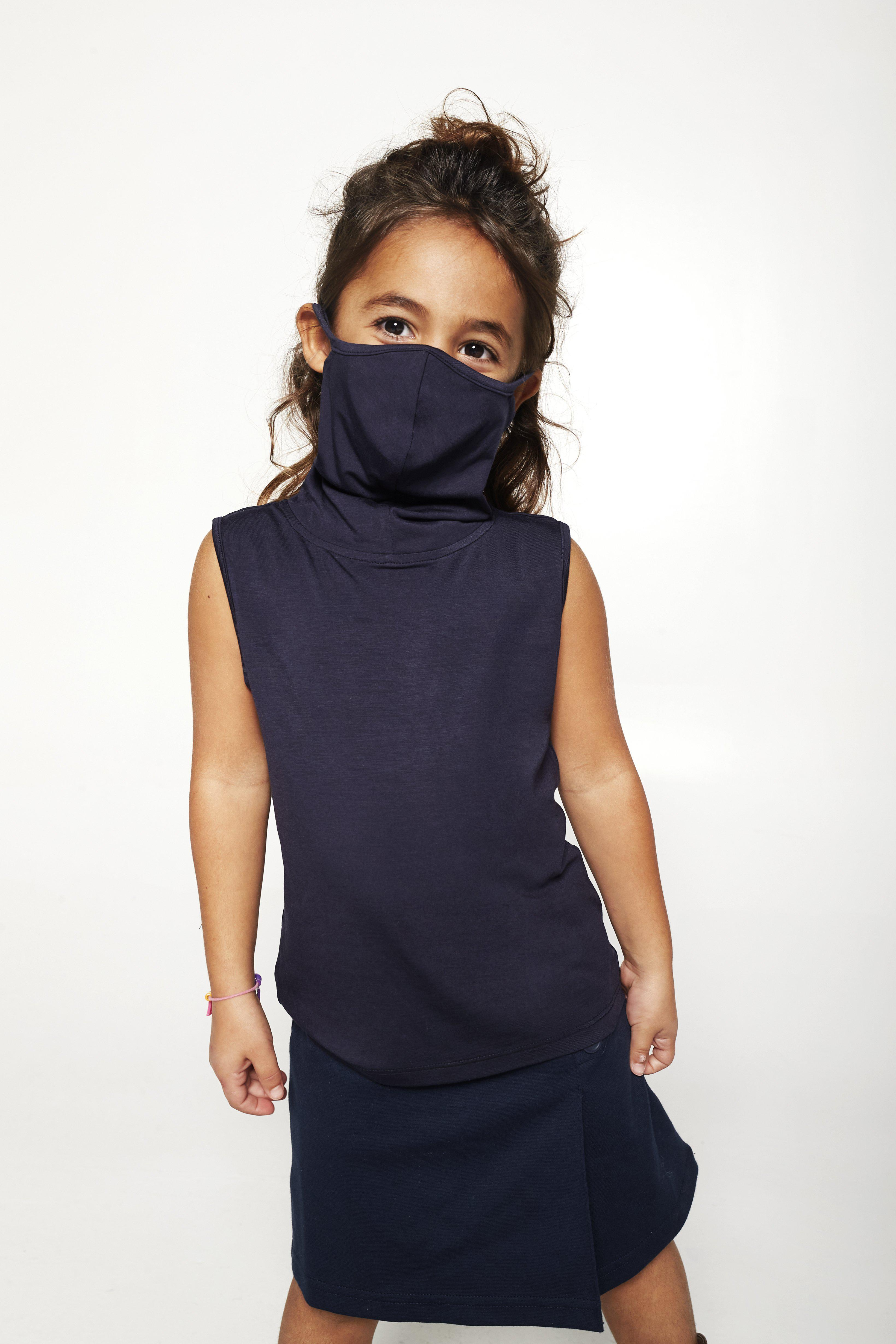 Kids Sleeveless Navy Shmask™ Earloop Face Mask for Kids and Adults