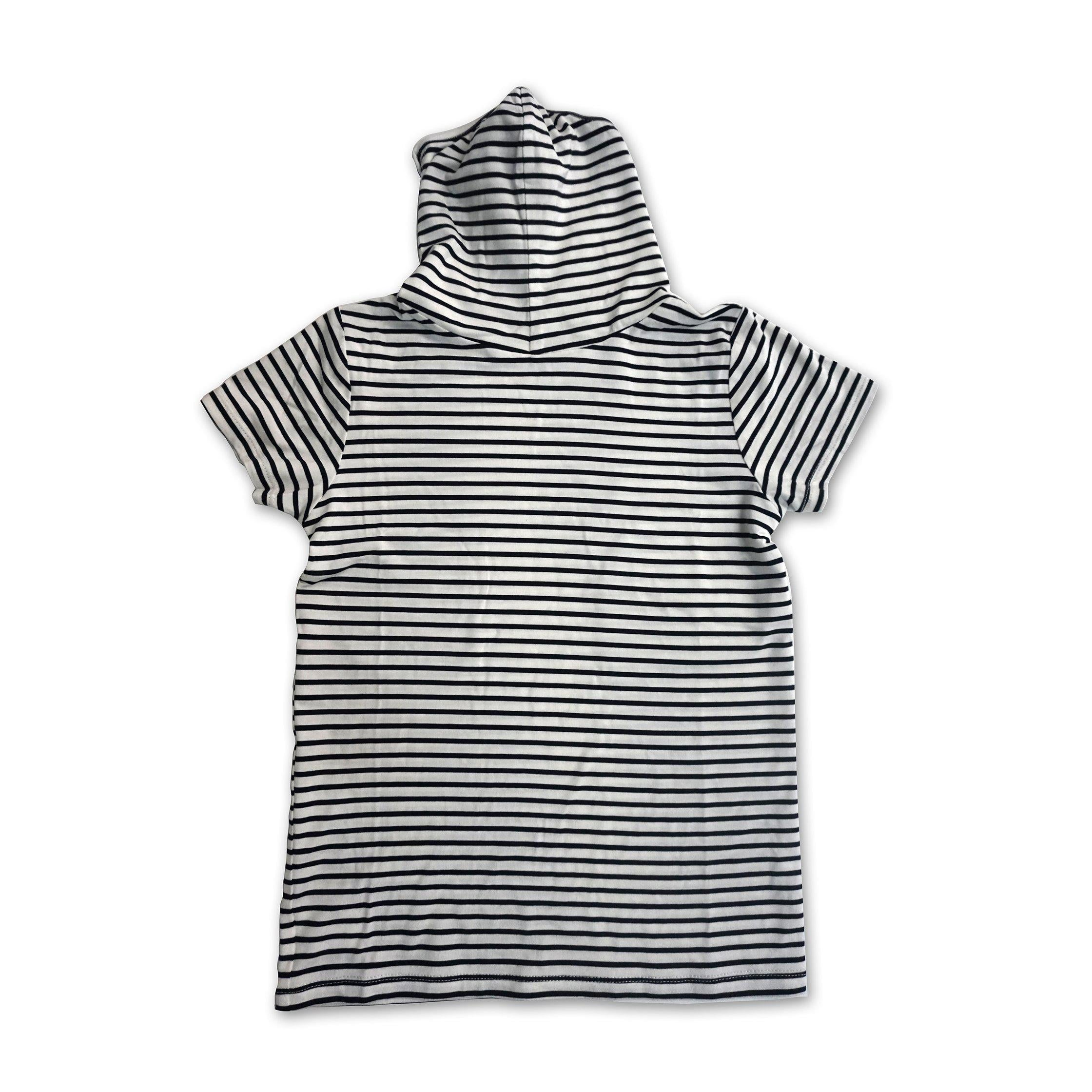 Kids Short Sleeve Navy Stripe Shmask™