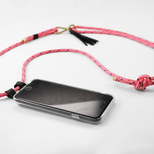 CROSSBODY PHONE CASE PINK