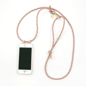 CROSSBODY PHONE CASE | LEATHER | ROSE